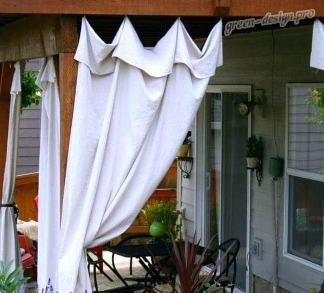 Тканевые шторы для открытой террасы